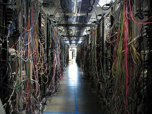 Server Room Racks Worst Wiring Job